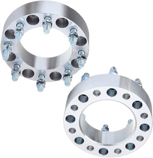 (2) 8X180 Wheel Spacers 3 inch Thick For Chevy Silverado 2500 3500 HD 14x1.5 Studs