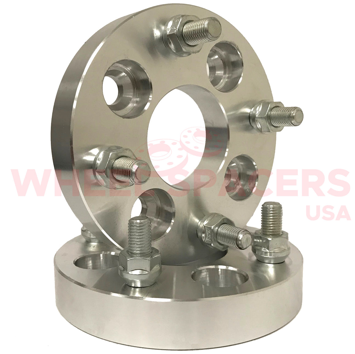 2) 4x4.5 Kia Wheel Spacers With 12x1.5 Studs For Kia Optima Spectra Image 4x114.3