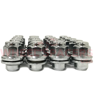 24 Nissan OEM Style Lug Nuts With Washer 12x1.25 | Fits All Nissan OEM Rims