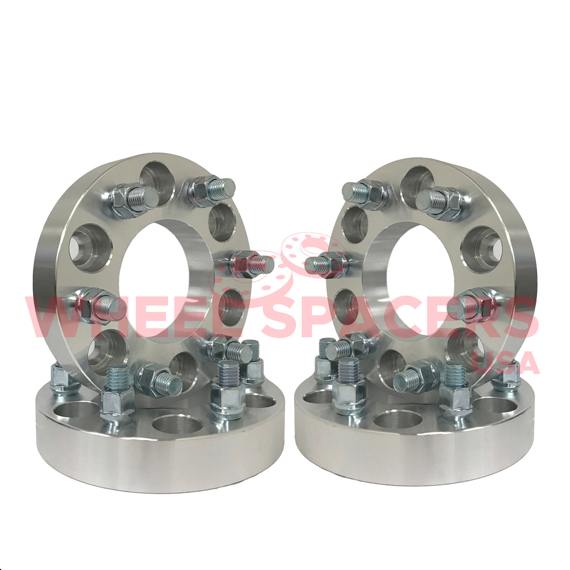 4) 6x5.5 Wheel Spacers For Chevy & GMC 6 Lug Trucks Also Known as 6x139.7 14x1.5 Threads Fits Most 6 Lug Chevy & GMC 108mm Big Bore