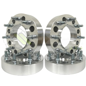 (4) 8x200 Ford F-350 Dually Hub Centric Wheel Spacers 14x1.5 Studs For 2005 & Newer Ford F-350 Super Duty Trucks