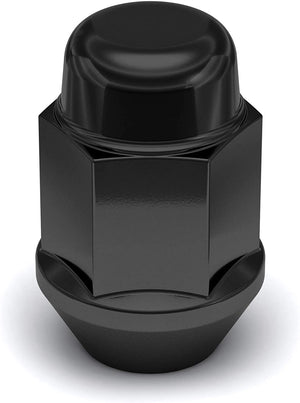 10 Black 14X1.5 Lug Nuts Acorn Bulge Seat