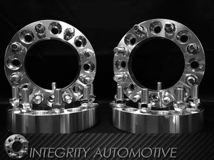 (2) 8X6.5 Dodge Ram Wheel Spacers Adapters 4 Inches Thick |  Fits Most 8 Lug Ram Trucks 2500 3500 HD (8X165.1) 9/16-18 100mm