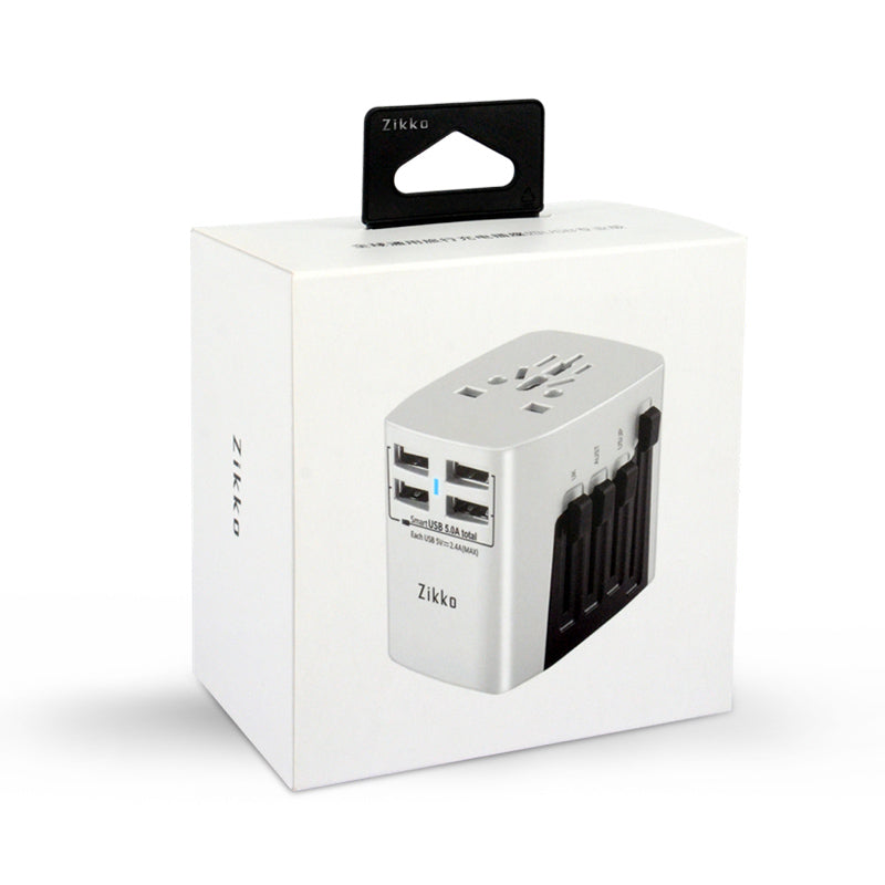 4USB Worldwide Travel Adaptor (BST631) - Zikko