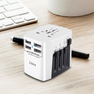 4USB Worldwide Travel Adaptor