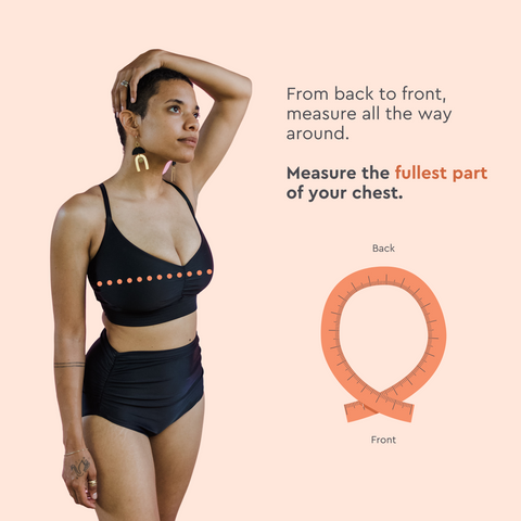 Image of how to measure your bust.