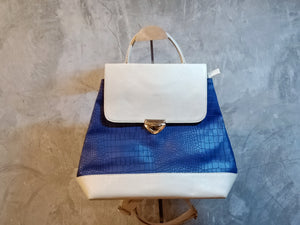 TBF-0001 Blue and cream back pack