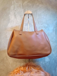 BGAL-0323 Brown leather shoulder bag