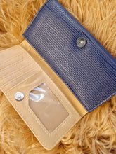 Load image into Gallery viewer, BGAL- 0373 Blue clutch wallet with string texture