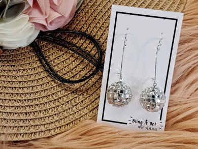 BIO-0467 Disco ball dangling earrings