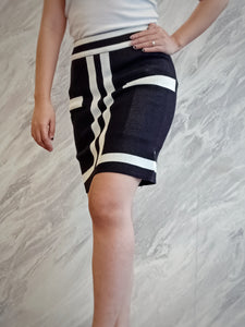 BUP-00049 Striped knitted skirt