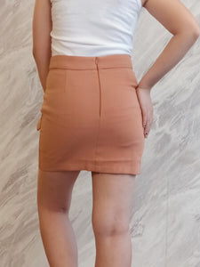 BUP-00016 Brown 2 button skirt