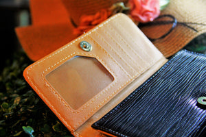 BGAL- 0373 Brown clutch wallet with string texture