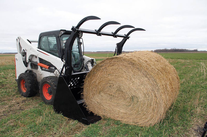 Rounded tines maintain the bale's shape while keeping it secure