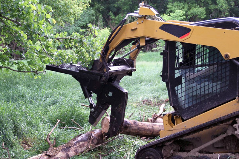Fallen trees can be sectioned for easy removal or clipped to length for firewood or compact loading