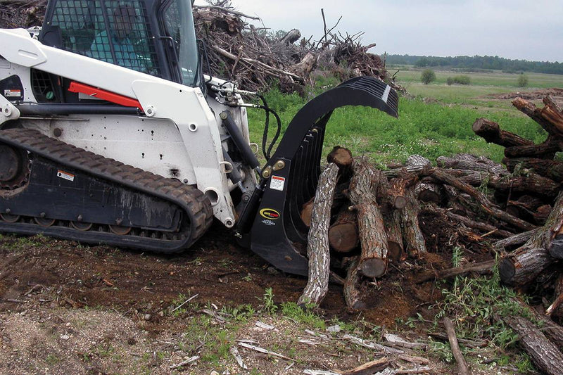 Move large logs and brush piles