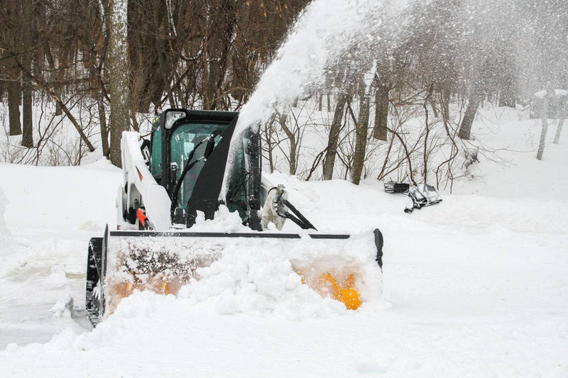 Skid Steer Snow Blower throws snow up to 45 feet