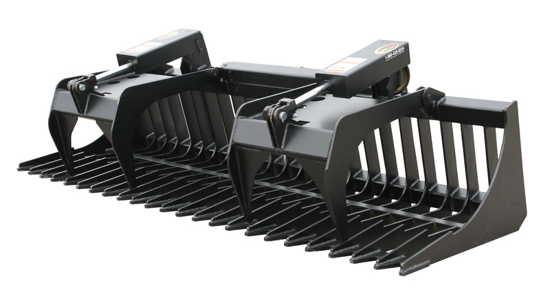 The Skeleton Grapple Rock Bucket is engineered to pick rocks and debris from the soil with the added feature of independent grapples to secure a variety of materials.