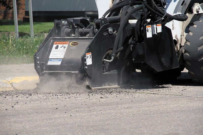 Two tools in one; cut asphalt and concrete with the same machine