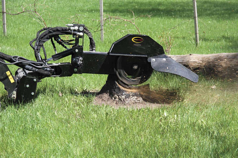 The Mini Stump Grinder features the ideal combination of maneuverability, power, durability, and simplicity