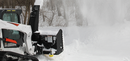 Serrated edges and serrated auger cuts through snow like butter