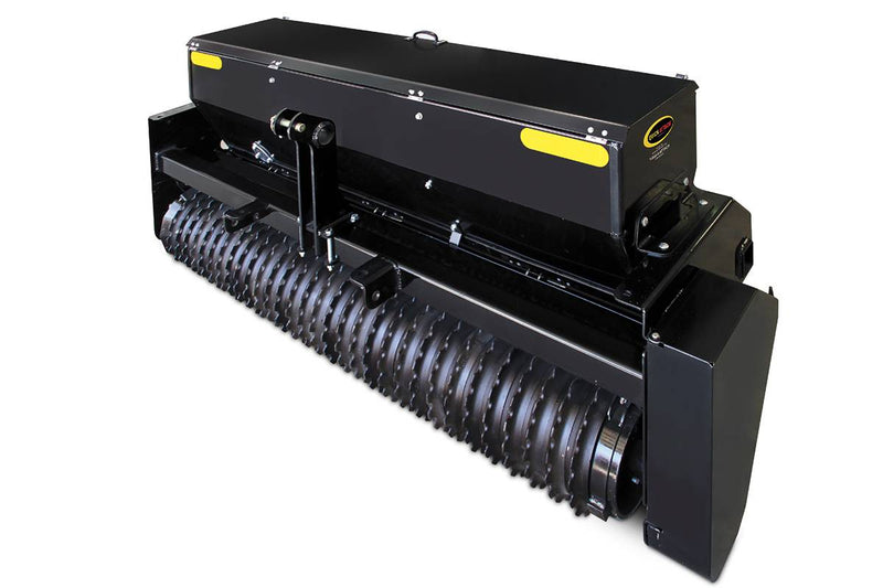 "The Landscape Seeder, a bi-directional seeder, is built to handle all turf and landscape seeds. Notched rollers properly place the grass seed in the top 1/2"" of a properly prepared seedbed, resulting in maximum seed germination."