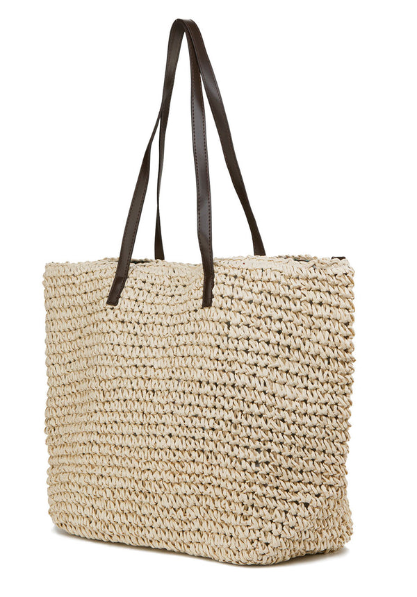 ILISHOP Women's Classic Straw Summer Beach Sea Shoulder Bag Handbag Tote