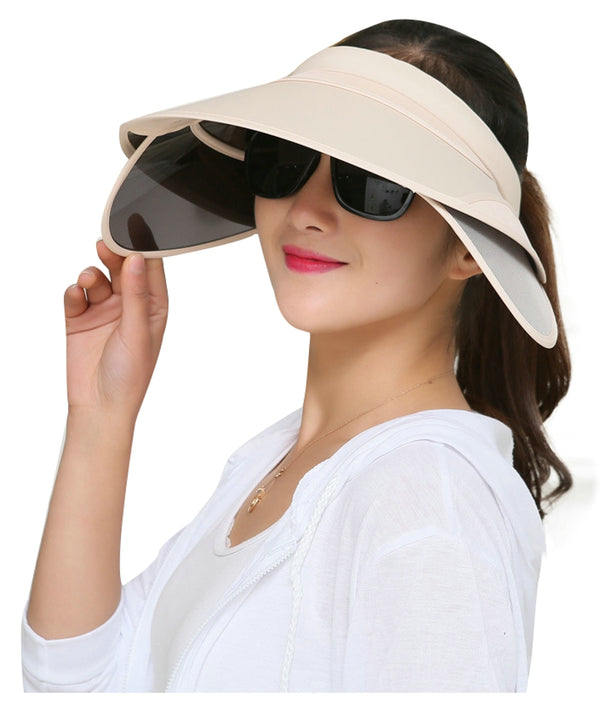 ilishop Women's Beach Sun Visor Wide Brim Hat Cap