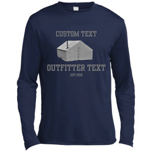 Wall Tent Outfitter Custom Wicking LS Tee