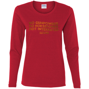Ladies' Horsepower Cotton LS T-Shirt