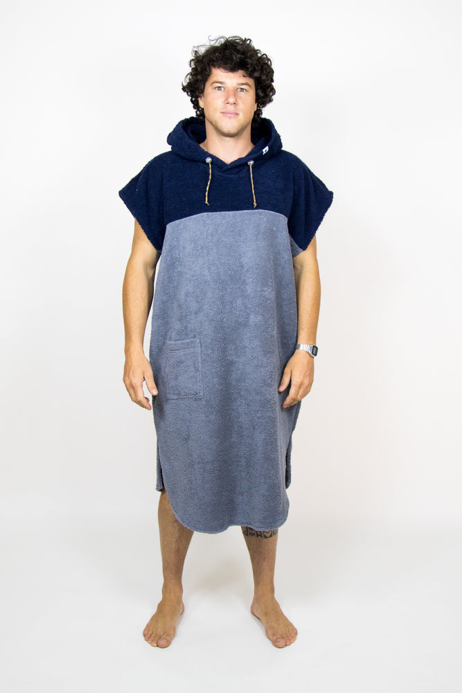 Poncho Long Nightblue