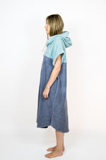 Poncho Long Lightblue