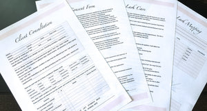 Lash Consultation Forms, Lash Mapping, Lash Aftercare, Consent Forms