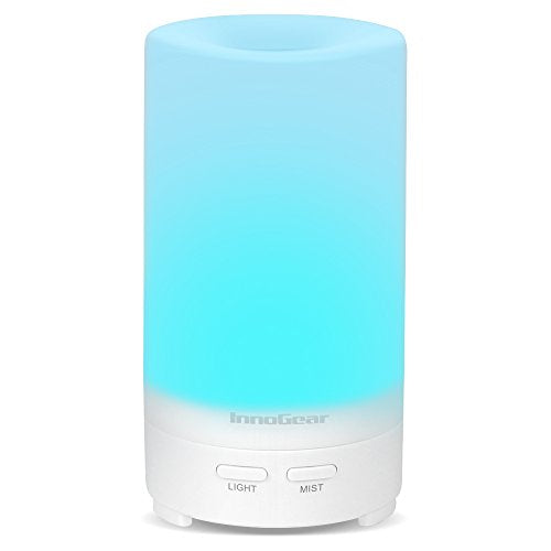 Innogear Usb Aromatherapy Essential Oil Diffuser Portable Aroma Humidifier Air Refresher Purifier With 7 Colorful Led Lights For Office Home Car Vehicle Travel