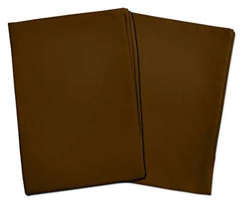 2 Dark Brown Toddler Pillowcases - Envelope Style - For Pillows Sized 13X18 And 14X19 - 100% Cotton With Sateen Weave - Machine Washable -