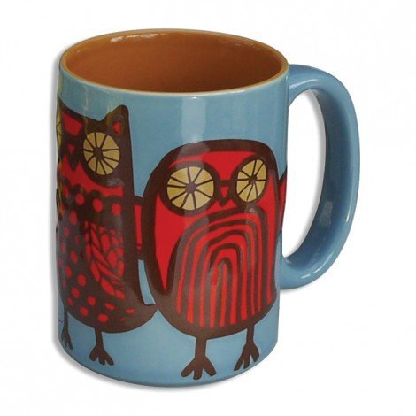 Owl Mug (Blue/Red) By Kitsch'N Glam