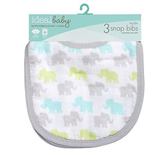 Ideal Baby By The Makers Of Aden + Anais Little Bib 3 Pack, Dreamy