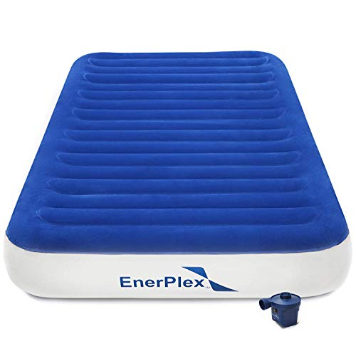 Enerplex Never Leak Luxury Queen Or Twin Size Air Mattress Airbed With Built In Pump Or Wireless Pump Raised Double High Or Single High Blow Up Bed For Home Camping Travel 2-Year Warranty