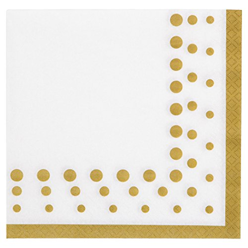 Creative Converting 317842 16 Count Paper Lunch Napkins, Sparkle And Shine Gold
