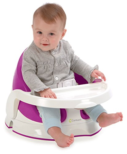 Contours Twist Grow With Me 3-In-1 Floor, Booster And Feeding Seat -180 Swivel, Removable Foam Seat, Wipe Clean Feeding Tray And 3-Point Harness System, Berry