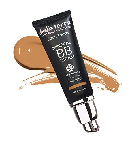 Bella Terra Bb Cream 3-In-1 Tinted Moisturizer - Buildable Coverage - Light To Dark Skin Tones- With Natural Spf- Mineral Makeup Foundation- Hypoallergenic (1.69 Oz) (Medium Tan B 105)