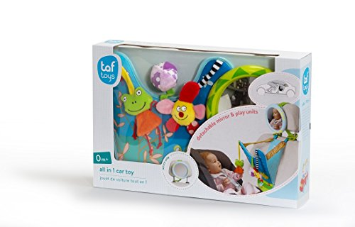 Taf Toys In-Car Play Center | Parent And Babys Travel Companion, Keeps Both Relaxed While Driving, Mirror To Watch Baby From Drivers Seat, Enables Easier Drive And Easier Parenting.