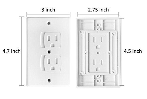 Universal Self-Closing Electrical Outlet Covers ,Extra Safe Retardant Child Safety Guards Socket Plugs Protector, Bpa Free, Hardware Included