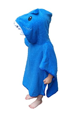 Softest Quick Dry Hooded Kids Shark Towel For Toddler - 5T | 100% Cotton Gently Snuggles Kids Dry. Get The Baby Shower Gift Moms Love By Hudz Kidz