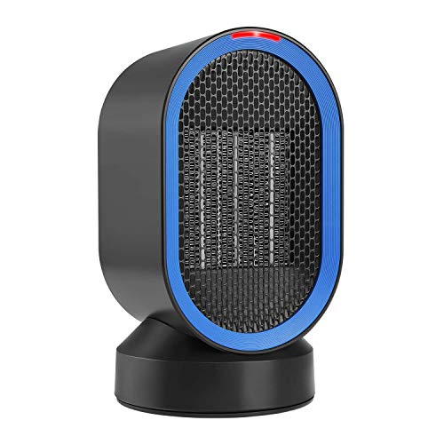 Comlife Portable Space Heater, Ptc Ceramic Heater With Fan&Amp;Auto Oscillation, Etl Listed, Small Desktop Heating Fan With Overheat &Amp; Tip Over Protections For Office Indoor Home, 600W