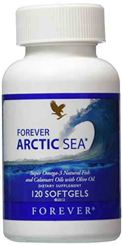 Forever Arctic-Sea Super Omega-3 Natural Fish Calamari Oils With Olive Oil, 120 Soft Gels