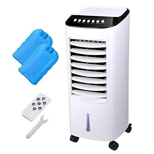 Yescom 65W Evaporative Air Cooler Energy Saving Fan Humidifier W/ Remote Control Ice Boxes Indoor Home Office Dorms