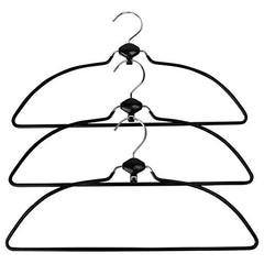 Evelots Swivel Non Slip Rubber Coated Metal Cascading Space Saving Hangers,3 Set 3