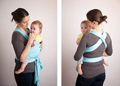 Cuddlebug Baby Wrap Carrier | Sleep Deeper | Cuddle More | Fuss Less (Light Blue)
