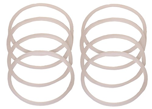 Jarmazing Mason Jar Gaskets - Regular Mouth (Small Mouth) - Food Grade Silicone Seals For Canning Jars